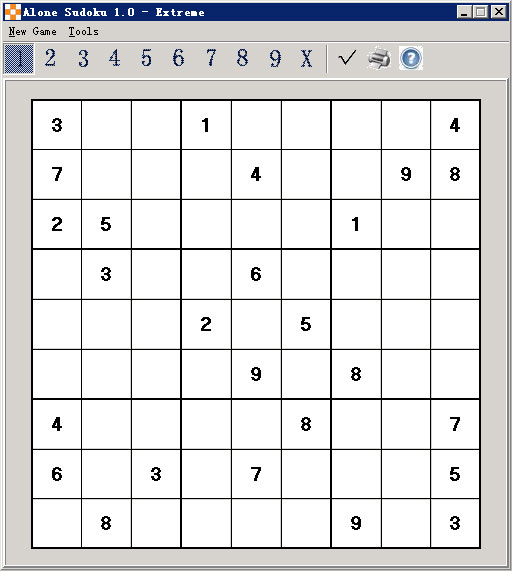 Click to view Alone Sudoku screenshots
