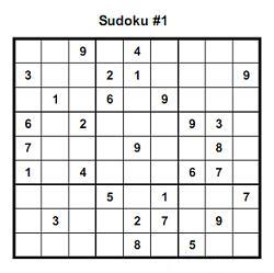 Printable extreme sudoku puzzles